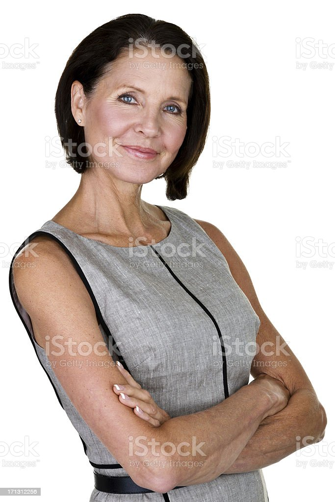 Mature woman with confident expression stock photo