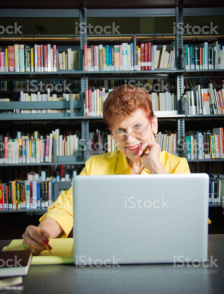 Mature Woman With Laptop Computer royalty-free stock photo