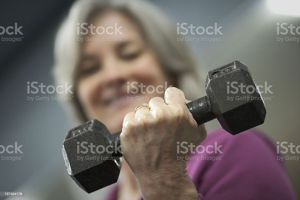 Mature Woman Workout Series royalty-free stock photo