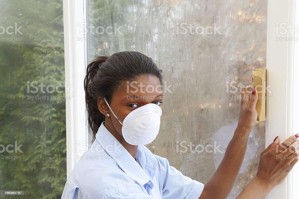 Mature women decorating stock photo