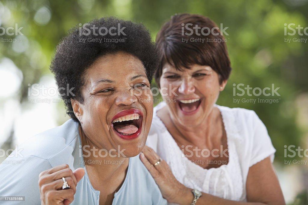Mature women laughing stock photo