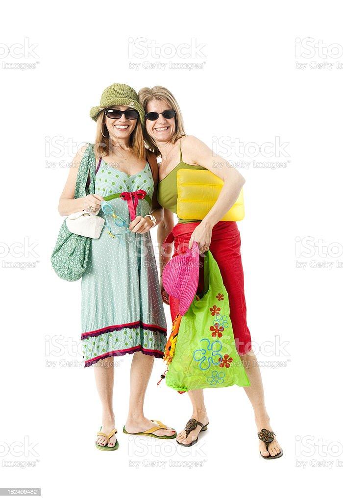 Mature women on holidays royalty-free stock photo