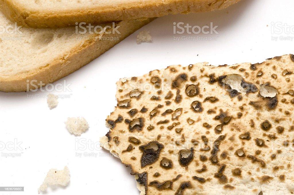 matza and bread2 royalty-free stock photo