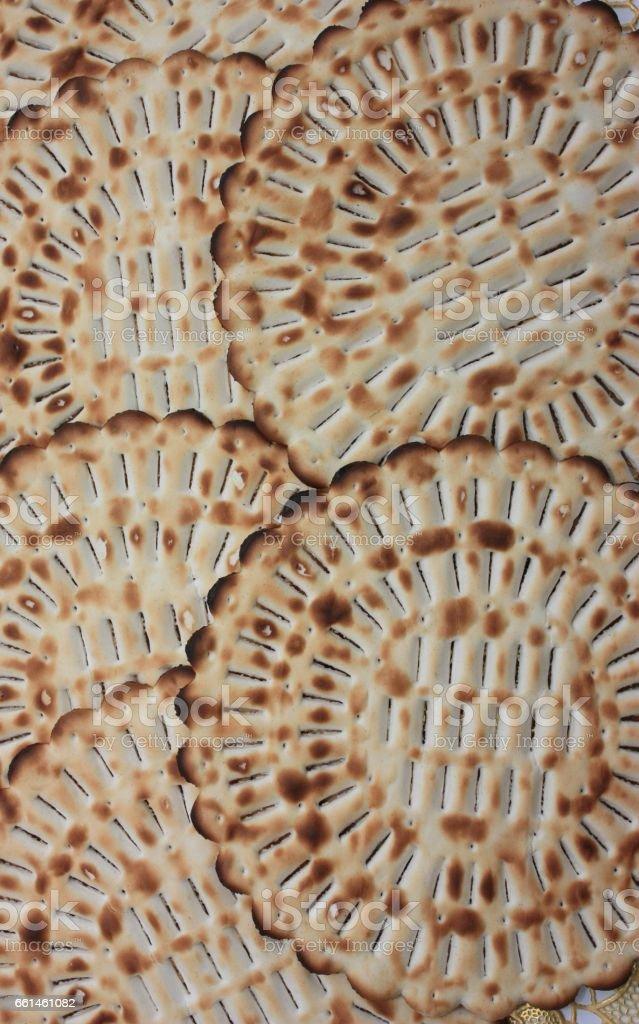Matza - Galettes de Pessah - Pain azyme - Pâques juives stock photo