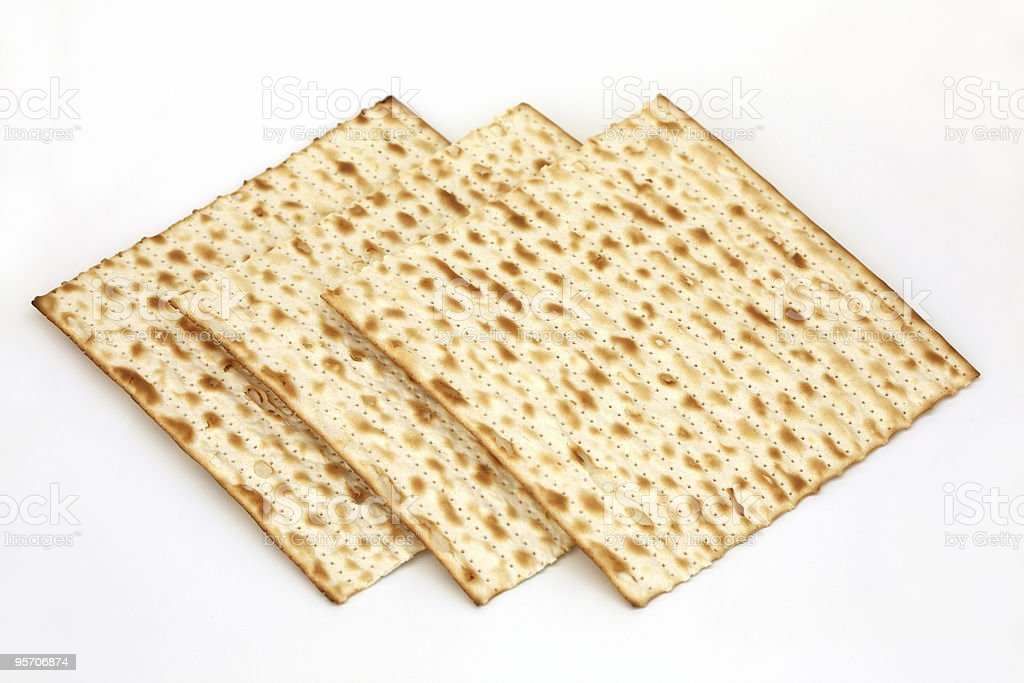 Matza isolated royalty-free stock photo