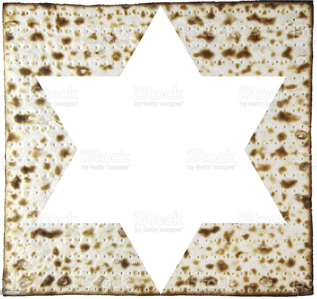 Matzah and magendavid royalty-free stock photo
