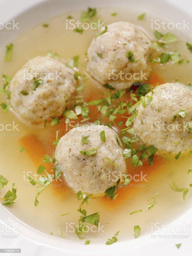 Matzah ball Soup stock photo