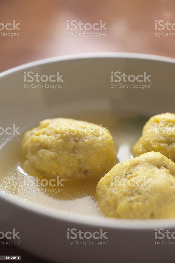 Matzah Ball Soup royalty-free stock photo