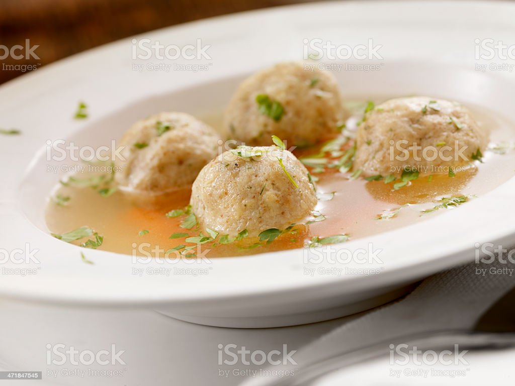 Matzah ball Soup stock photo