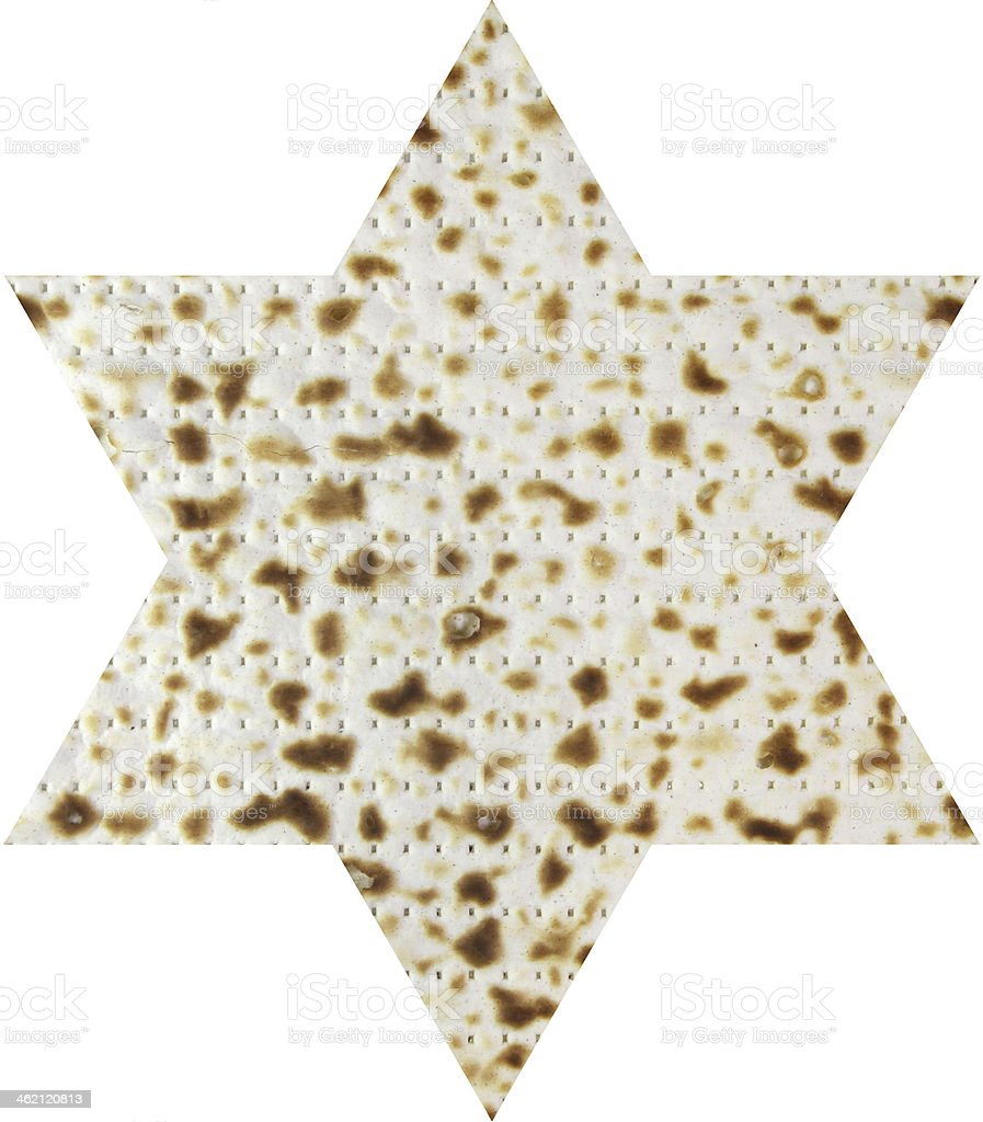 Matzah in the form magendavid royalty-free stock photo