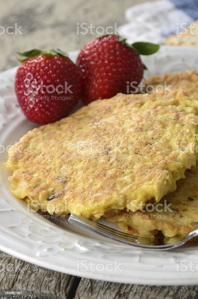 Matzah Brei royalty-free stock photo