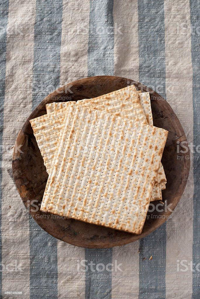 Matzah - Unleavened Bread for Passover stock photo