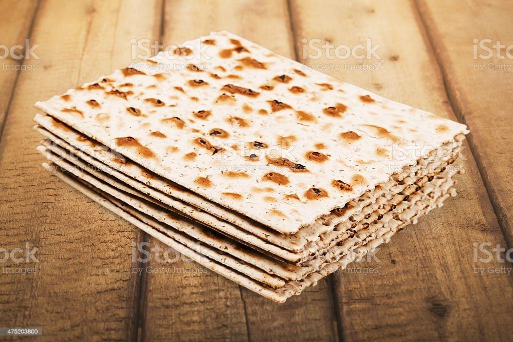 Matzahs, haggada, meal stock photo