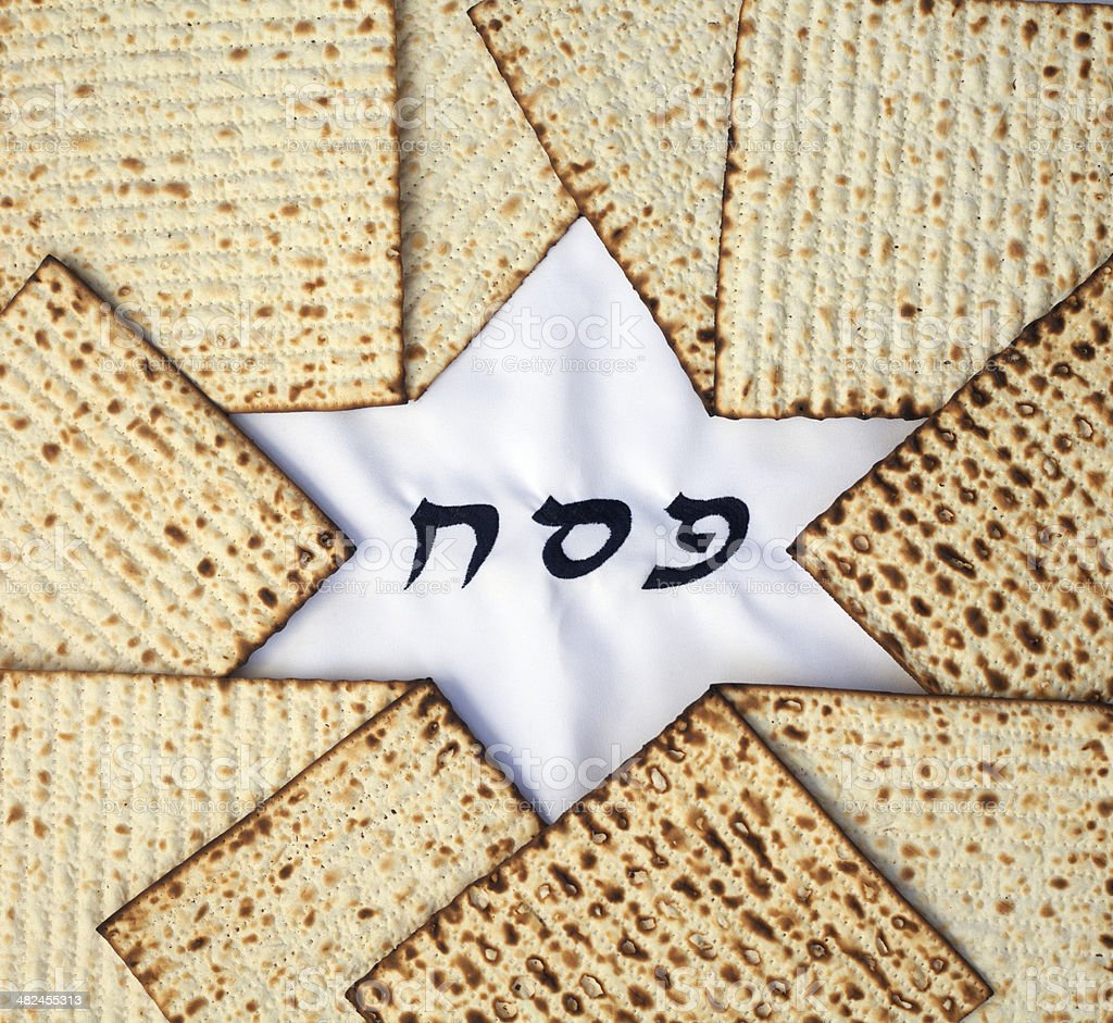 Matzo and  star of david stock photo