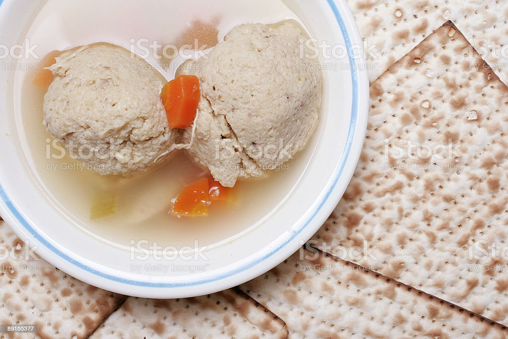 Matzo ball soup close royalty-free stock photo