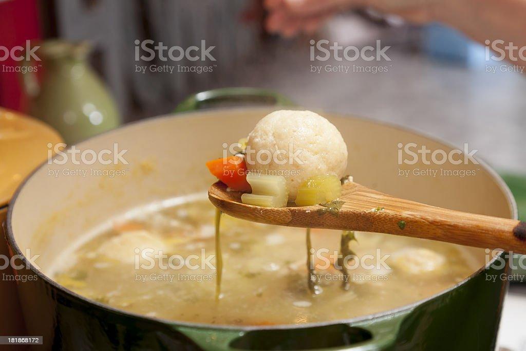 Matzo Ball Soup stock photo