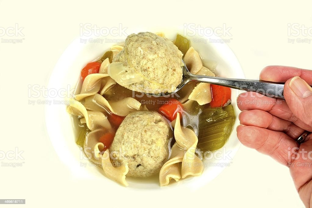 Matzo (Matzah) ball soup royalty-free stock photo
