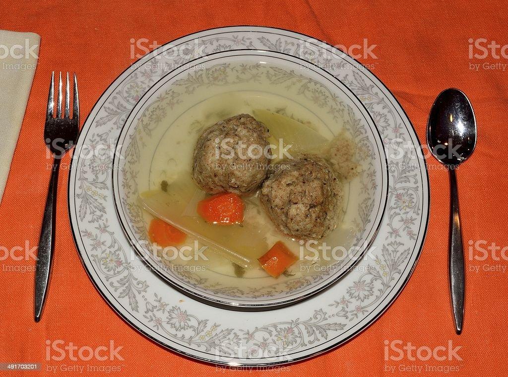 Matzo ball soup royalty-free stock photo