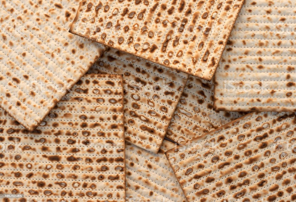 Matzo bread background stock photo