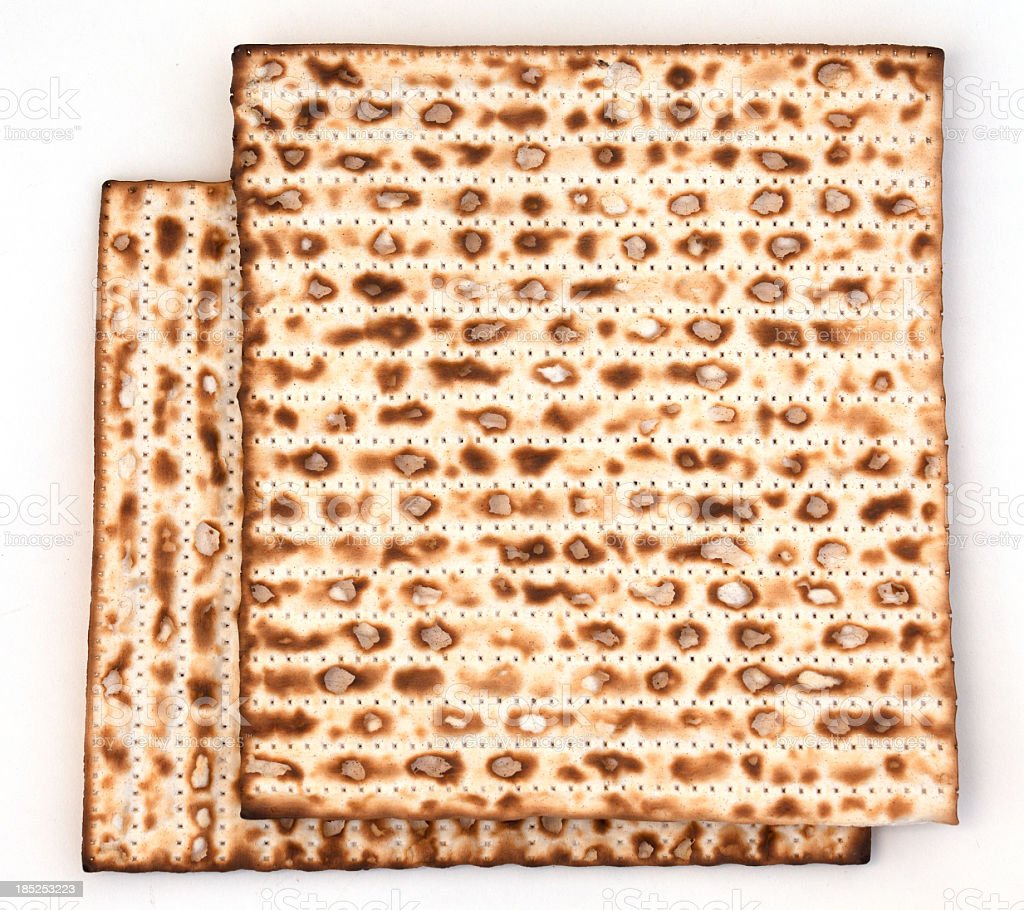 Matzo bread royalty-free stock photo