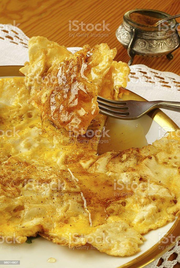 'Matzo brei' - omelette style royalty-free stock photo