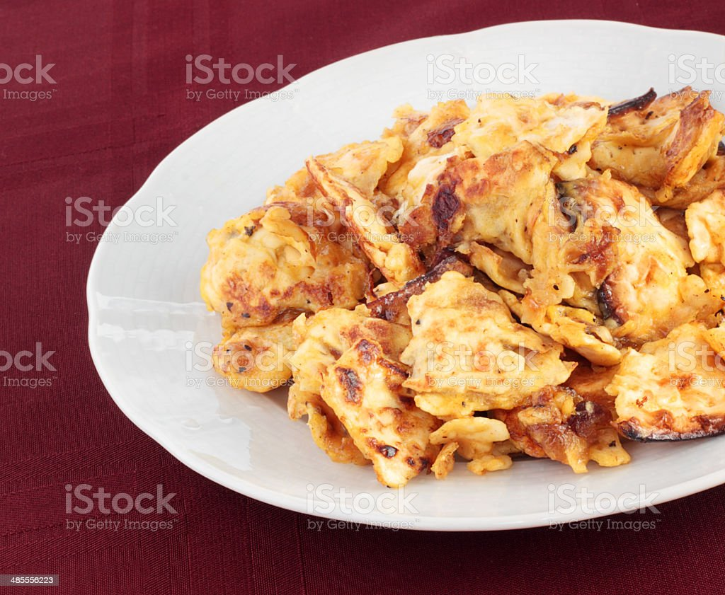 Matzo brei royalty-free stock photo