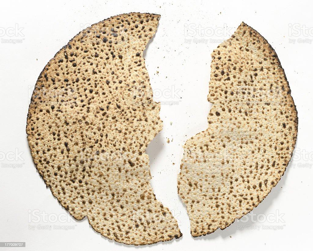 Matzo For Passover stock photo