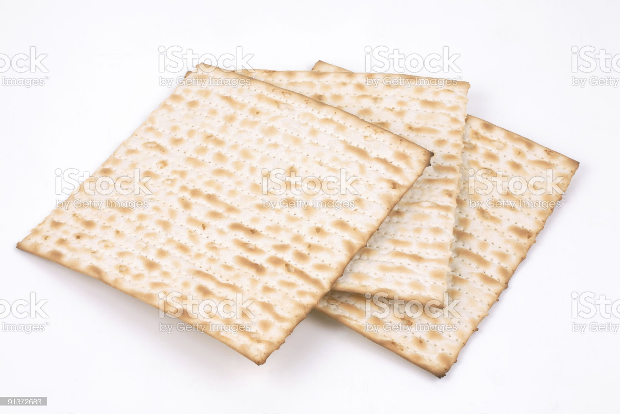 Matzo, isolated royalty-free stock photo