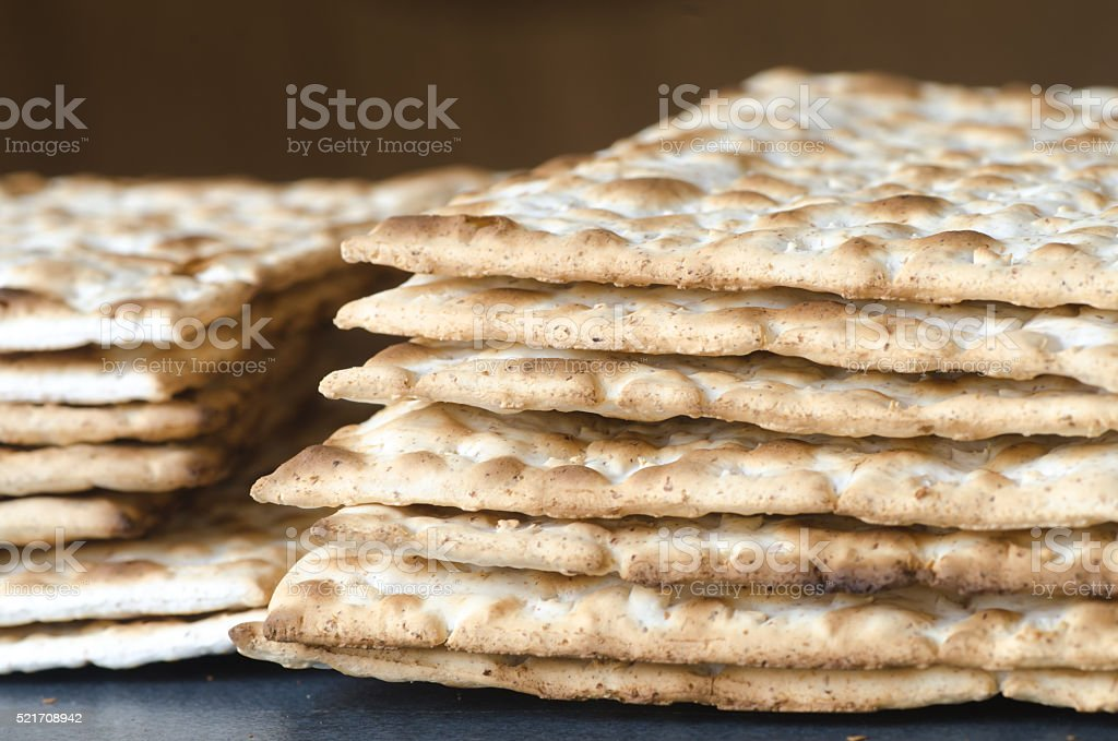 matzo Jewish Passover bread stock photo