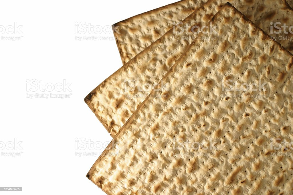 Matzo - macro royalty-free stock photo