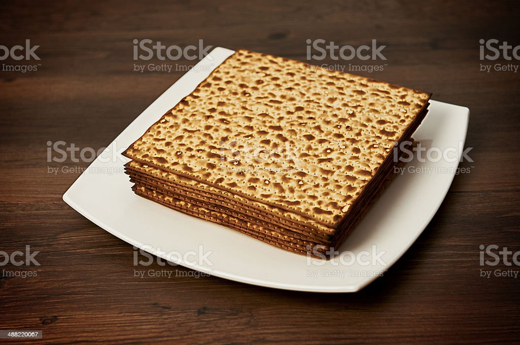 matzo on the table royalty-free stock photo
