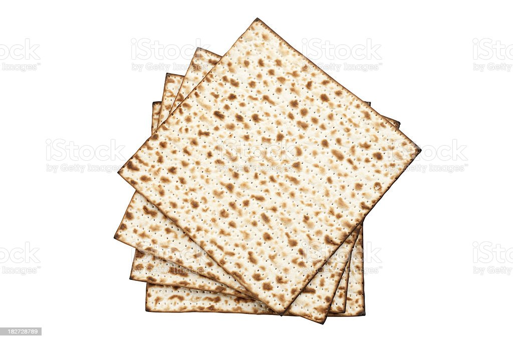 Matzo - Passover celebration stock photo