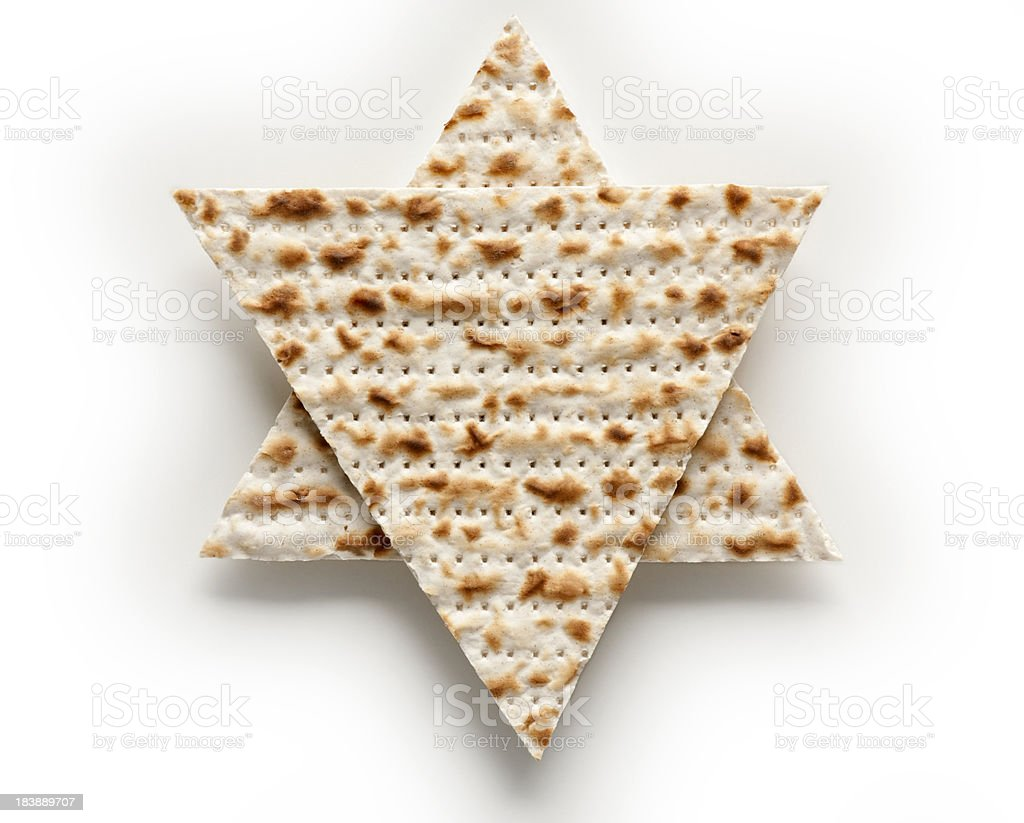 Matzo - Passover celebration. stock photo