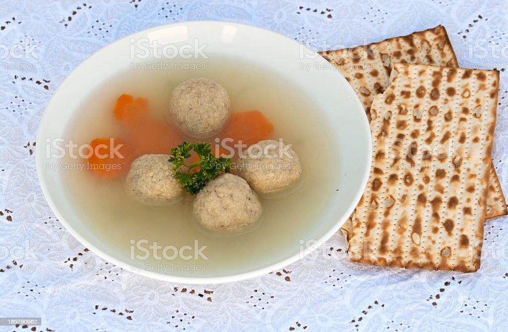 Matzo-Balls soup royalty-free stock photo