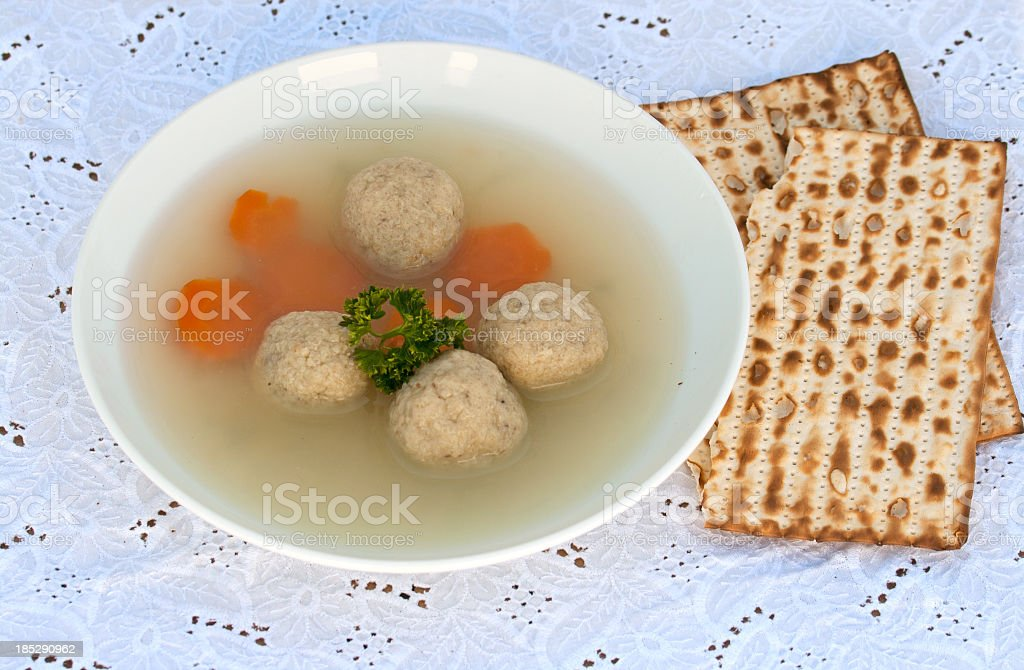 Matzo-Balls soup stock photo