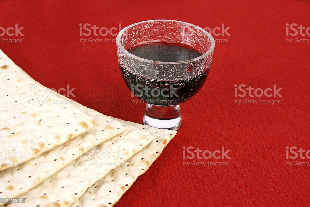 Matzoh and Wine. royalty-free stock photo
