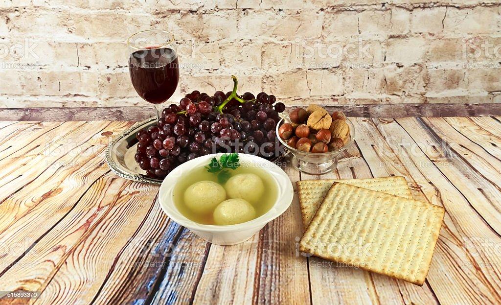 matzoh ball soup matzo Matzah stock photo