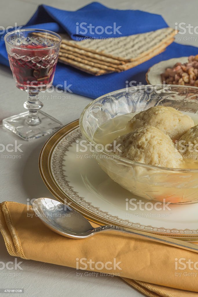 Matzoh Ball Soup stock photo