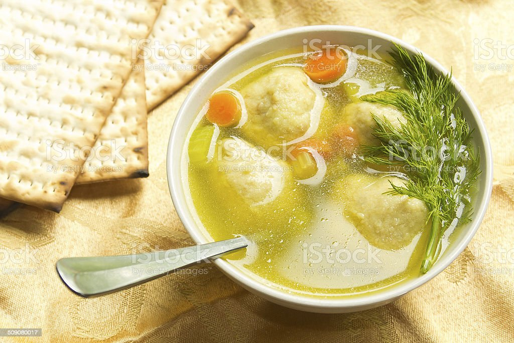 Matzoh Ball Soup stock photo