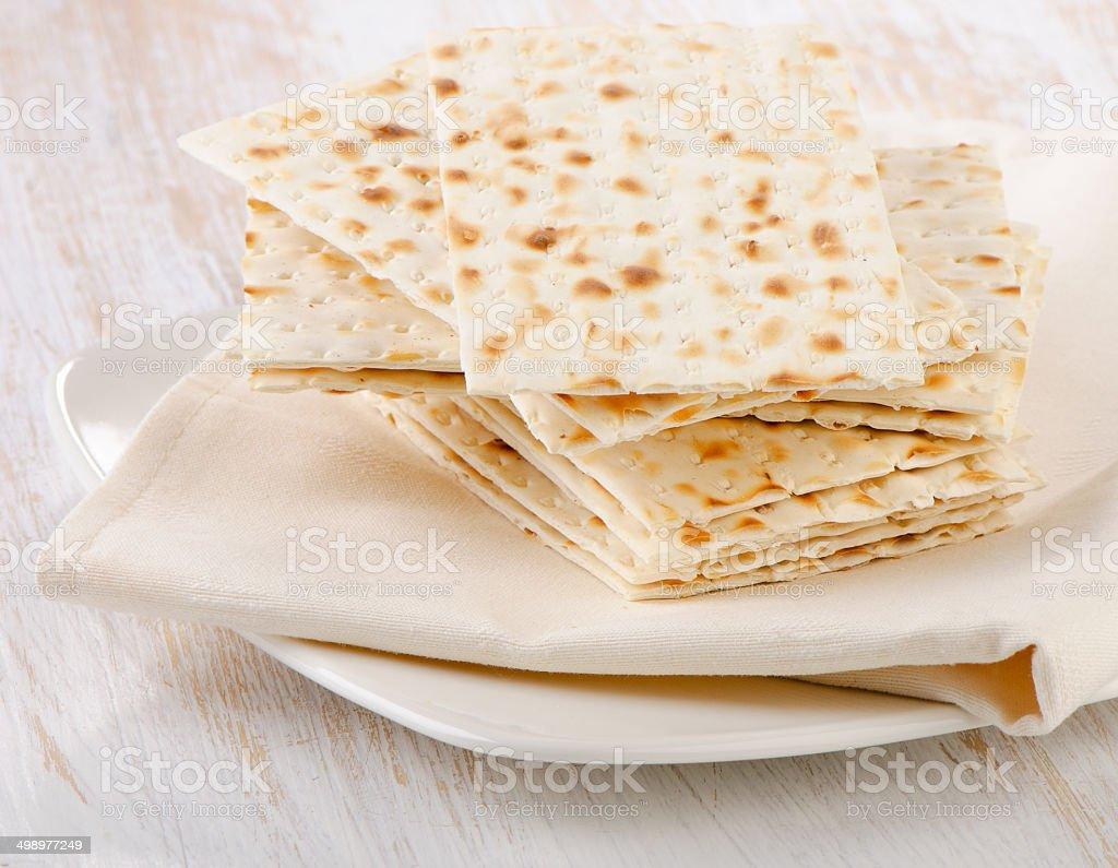 matzoh - jewish passover bread stock photo