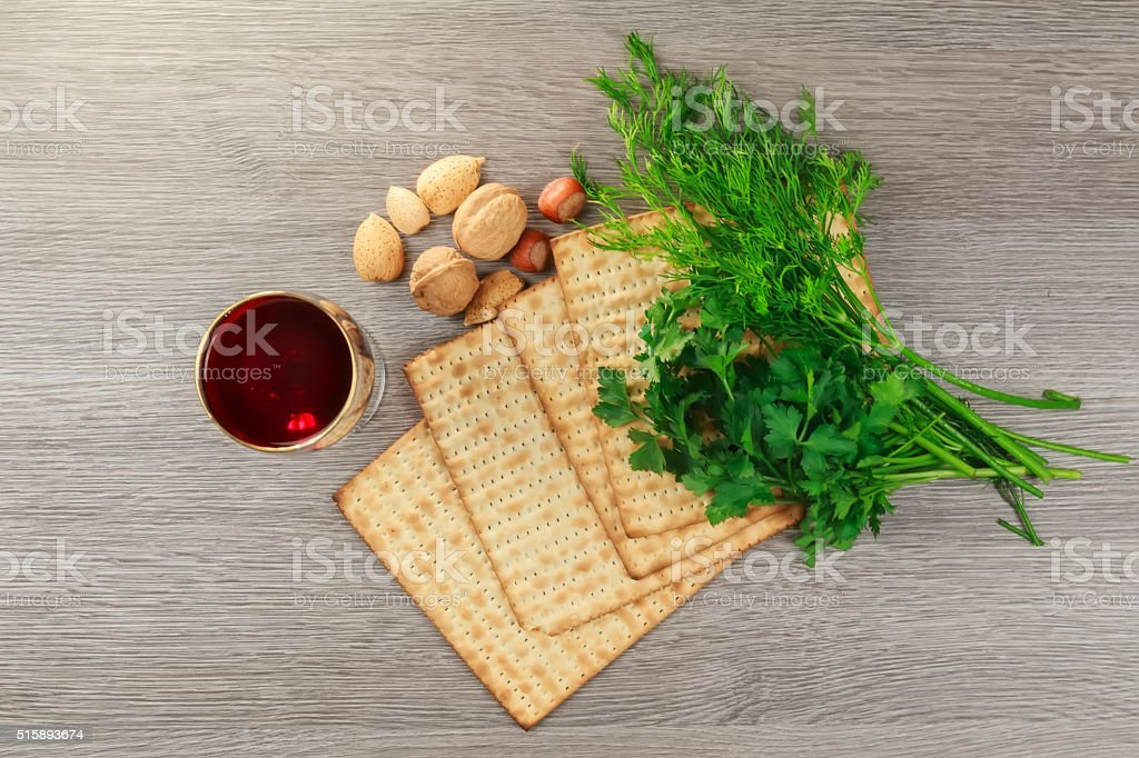 matzoh jewish passover bread torah stock photo