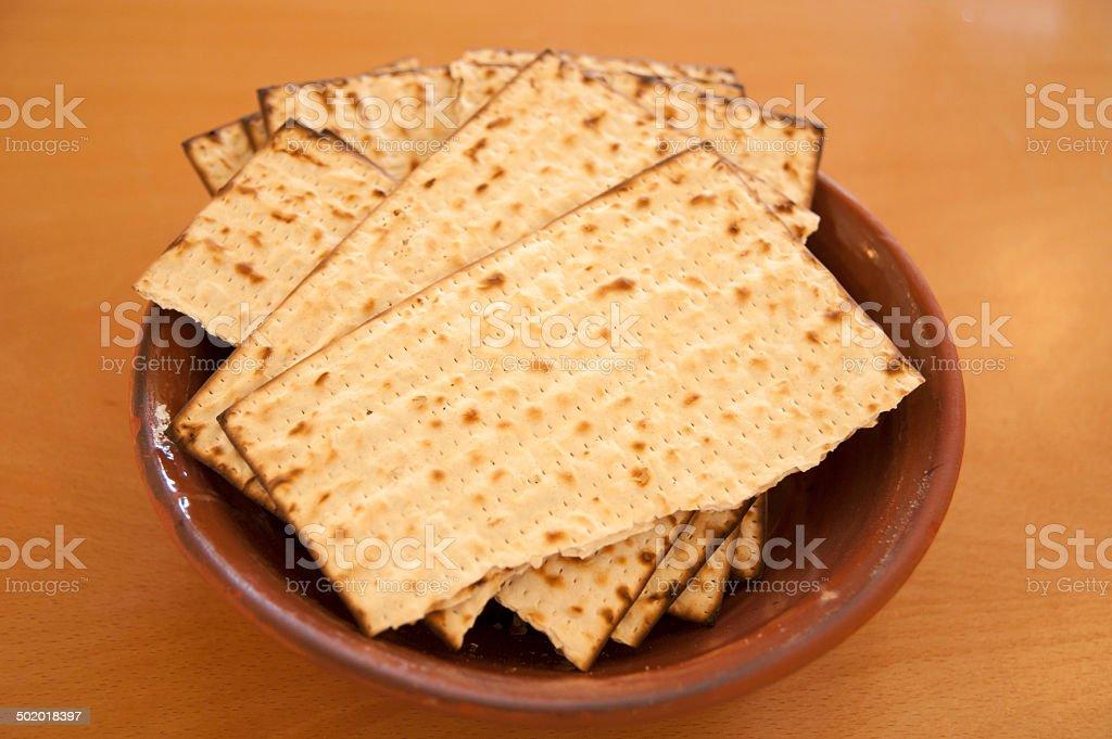 Matzos - jewish passover bread stock photo