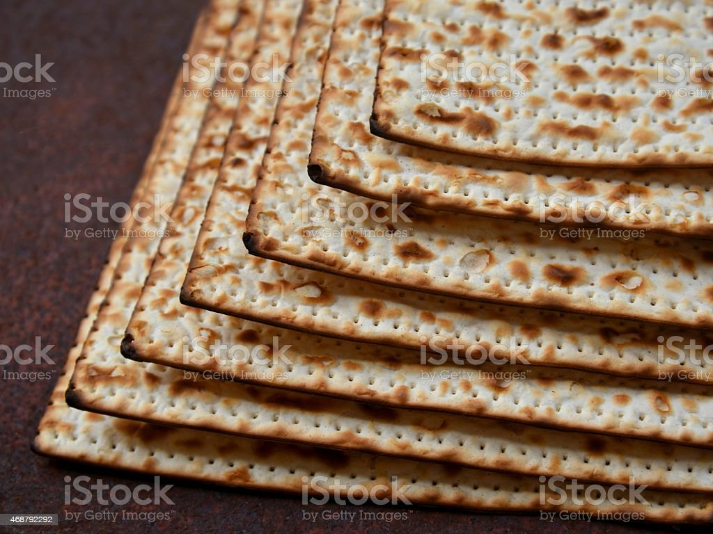 Matzot for Passover or Pesach stock photo