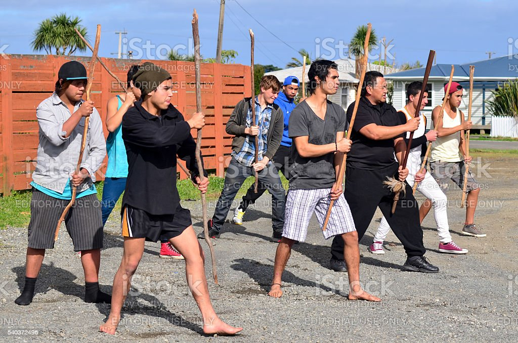Mau Rakau - Martial Art stock photo