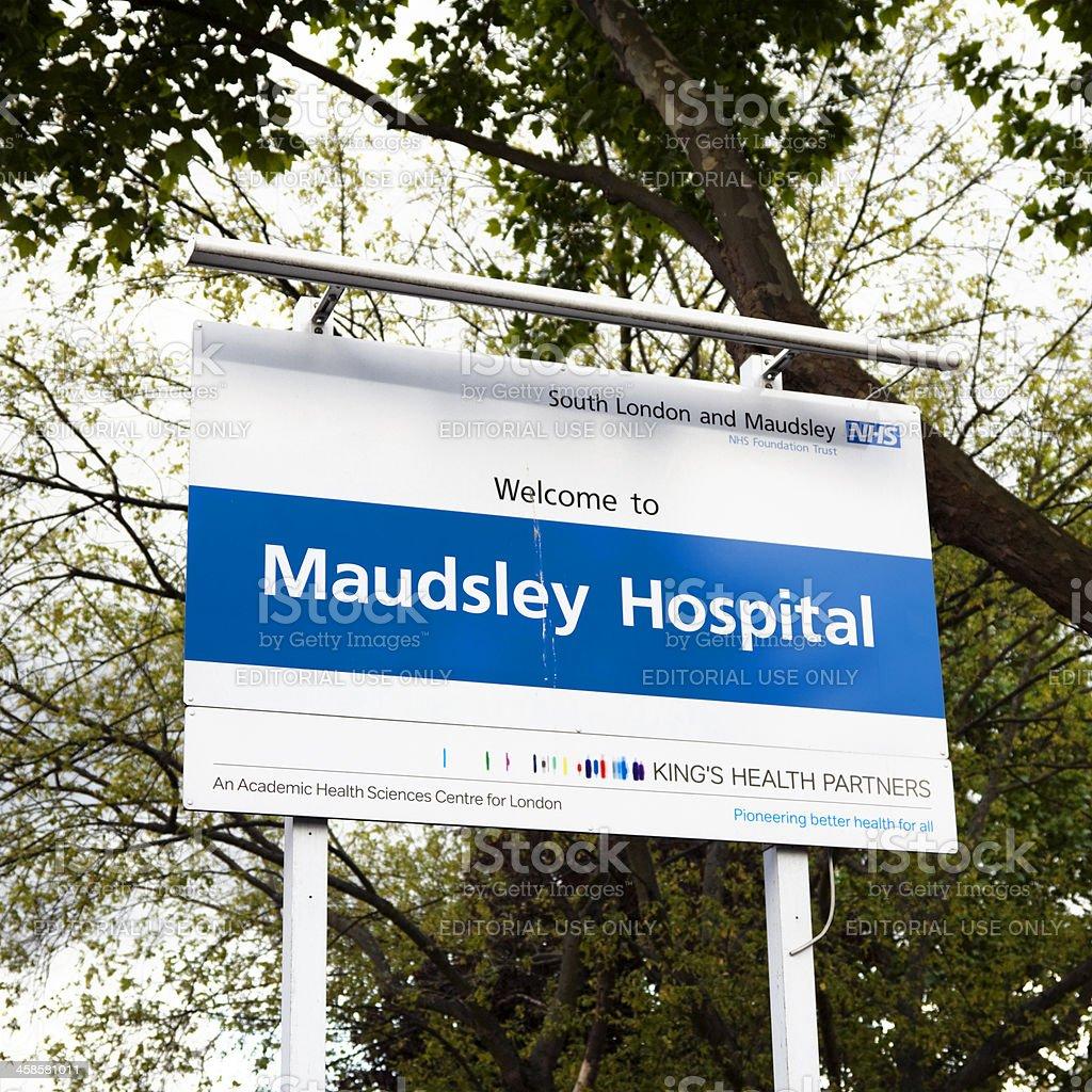 Maudsley hospital sign royalty-free stock photo