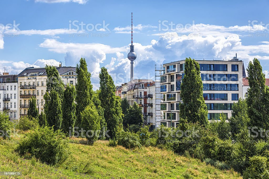 Mauerpark in Berlin stock photo