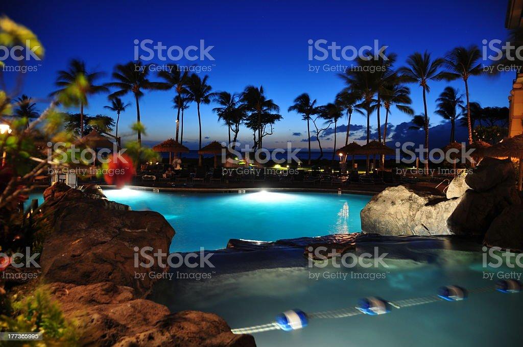 Maui beach resort stock photo