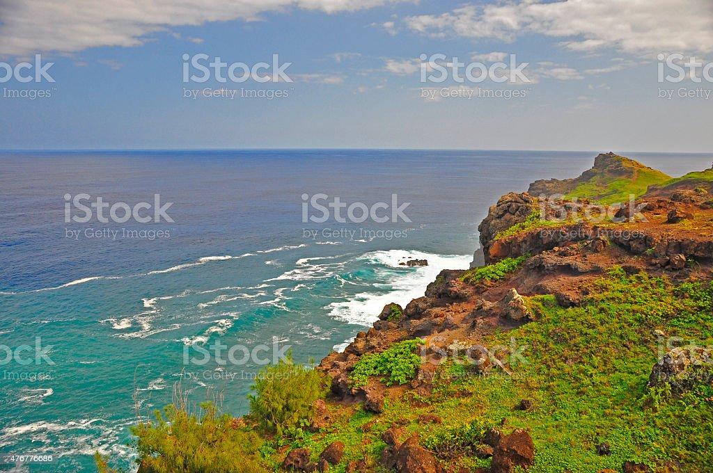 maui cliff stock photo