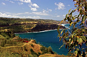 Maui coastline along pacific ocean