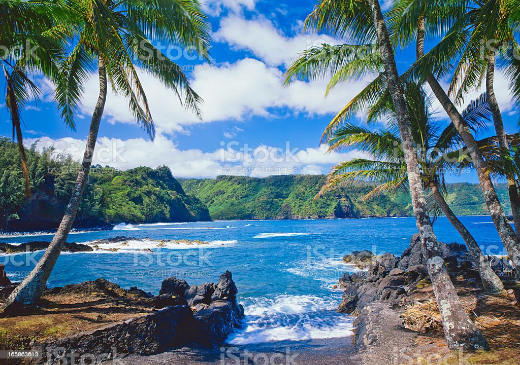 Maui Coastline, Hawaii Islands stock photo